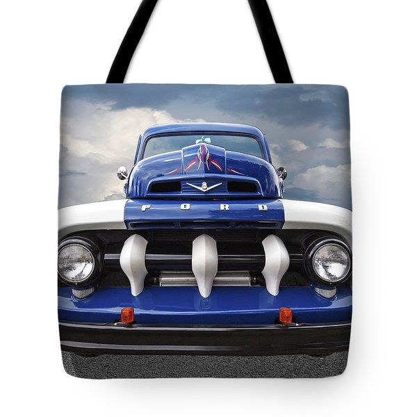 Early Fifties Ford V8 F-1 Truck Tote Bag