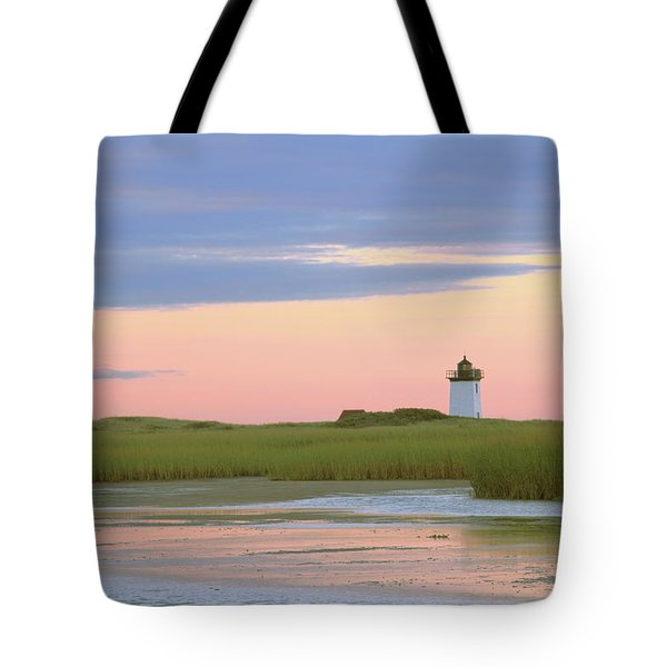 Tote Bag featuring the photograph Early Light At Wood End Light by Roupen  Baker