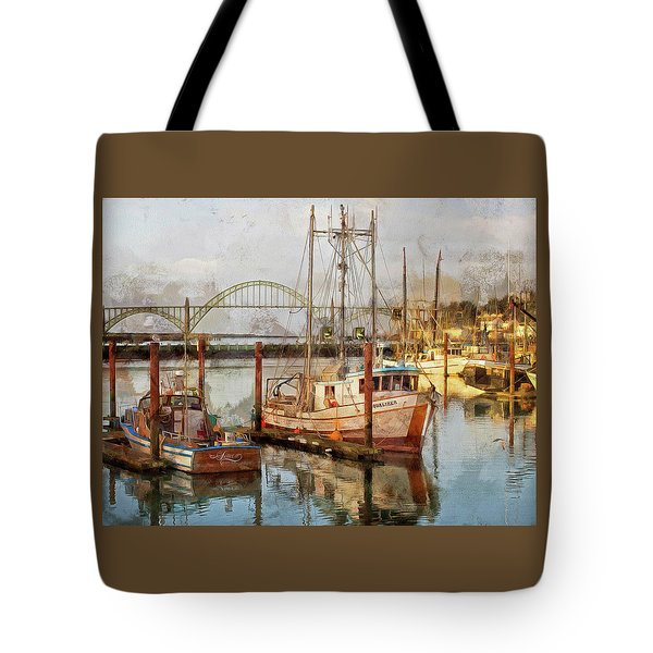 Early Light On Yaquina Bay Tote Bag