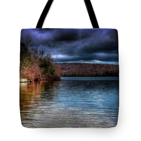 Tote Bag featuring the photograph Early May On Limekiln Lake by David Patterson
