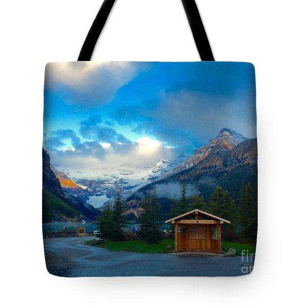 Early Moody Morning Tote Bag