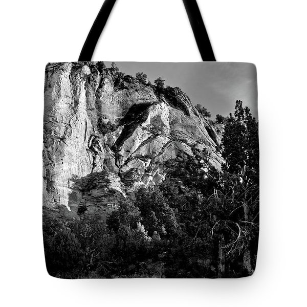 Early Morining Zion B-w Tote Bag by Christopher Holmes