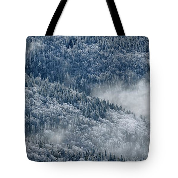 Early Morning After A Snowfall Tote Bag by Sebastien Coursol