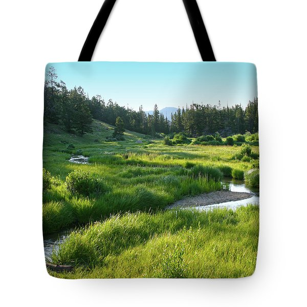 Tote Bag featuring the photograph Early Morning Along The Stream by Marie Leslie