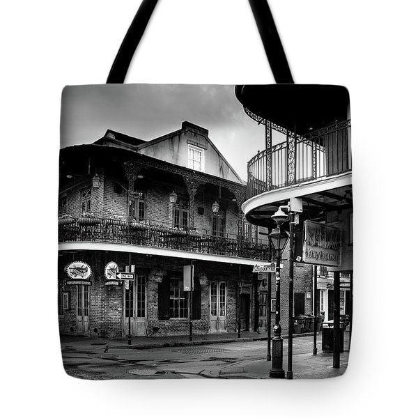 Early Morning At Cornet In Black And White Tote Bag
