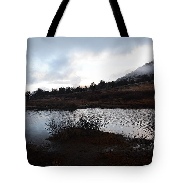 Early Morning At Favre Lake Tote Bag by Jenessa Rahn