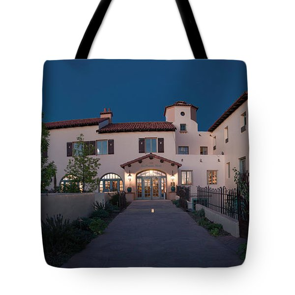 Tote Bag featuring the photograph Early Morning At La Posada by Charles Ables