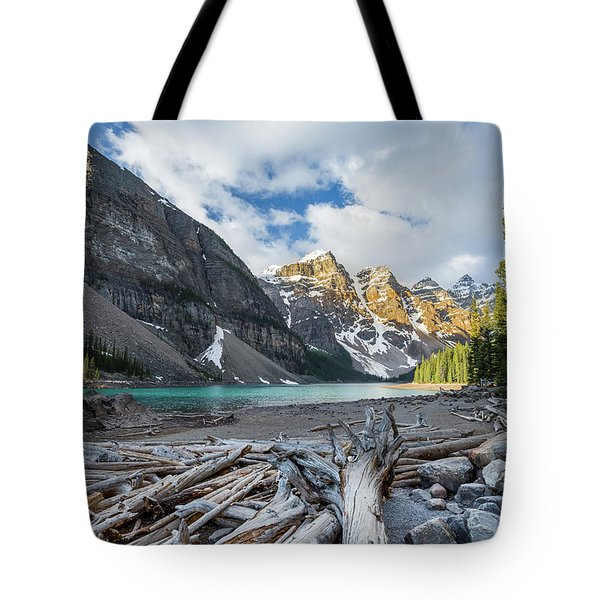Early Morning At Moraine Lake Tote Bag