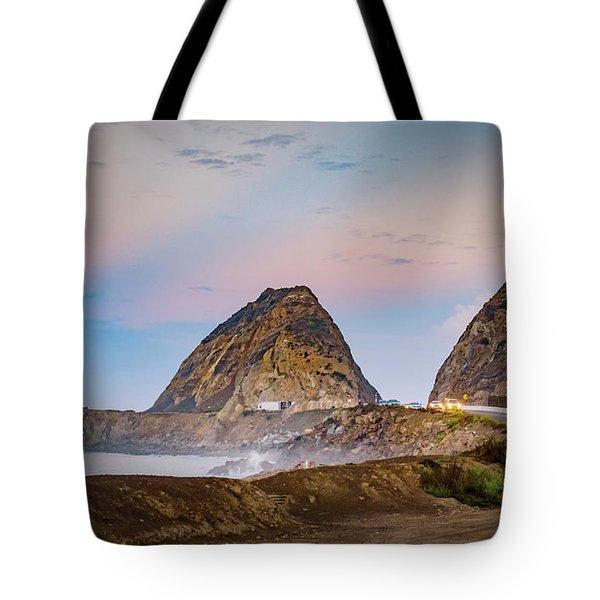 Early Morning At Mugu Rock Tote Bag