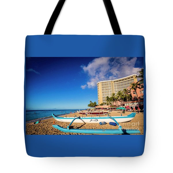 Early Morning At Outrigger Beach,hawaii Tote Bag