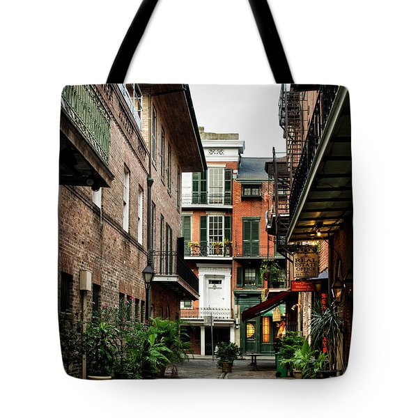 Early Morning At Pirate Alley Tote Bag
