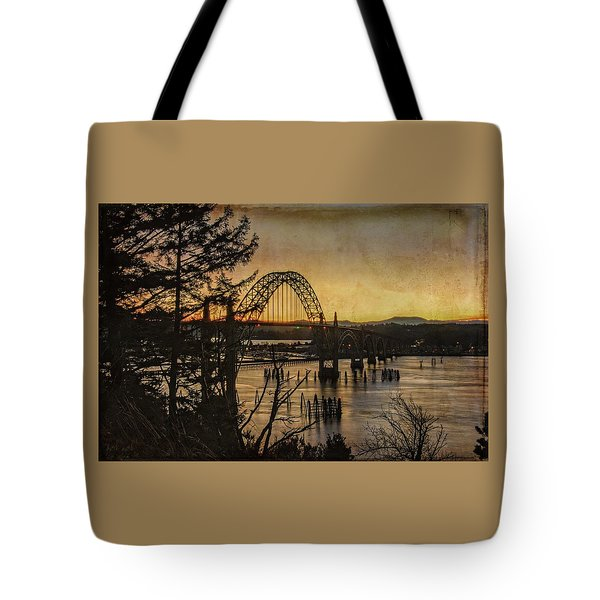 Early Morning At The Yaquina Bay Bridge  Tote Bag