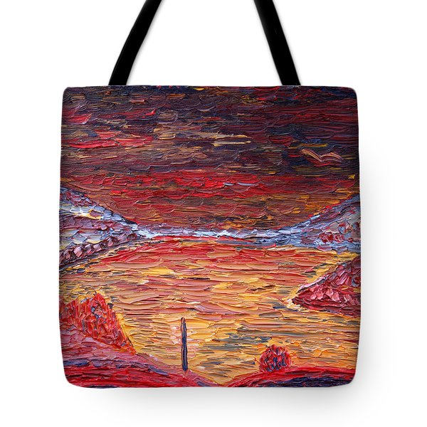 Early Morning At West Point Tote Bag