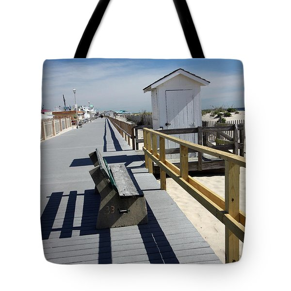 Early Morning Boardwalk Tote Bag