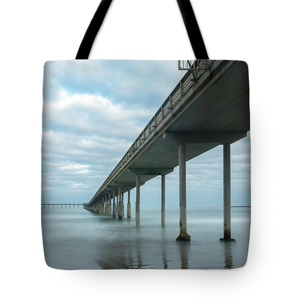 Tote Bag featuring the photograph Early Morning By The Ocean Beach Pier by James Sage