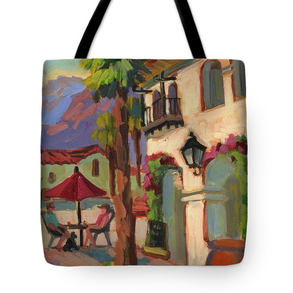 Early Morning Coffee At Old Town La Quinta Tote Bag