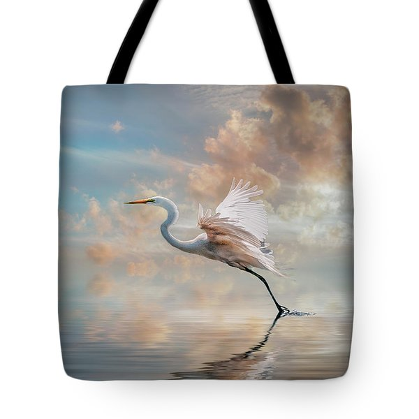 Early Morning Egret Tote Bag