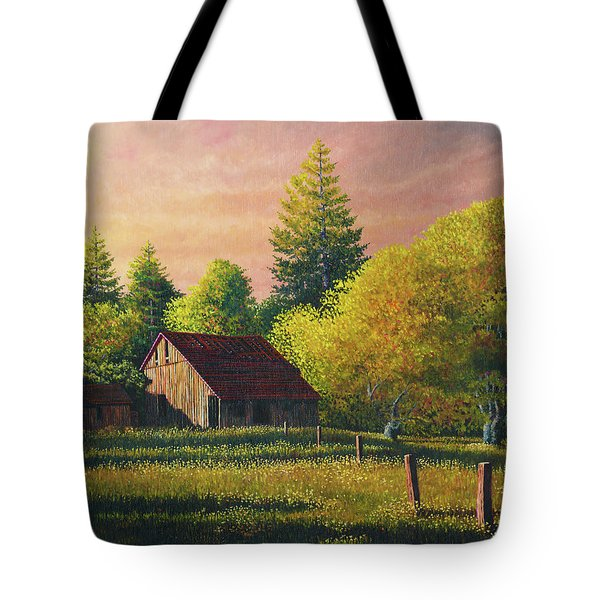 Early Morning Farm Tote Bag