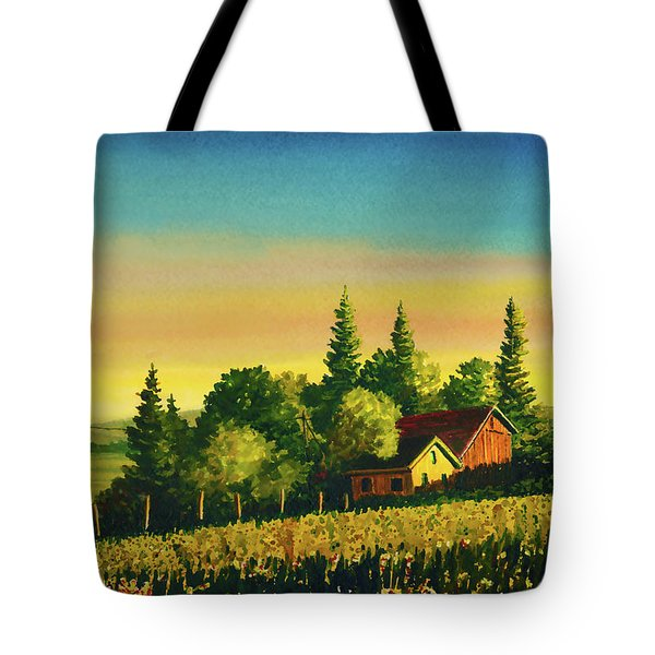 Early Morning Farmhouse Tote Bag