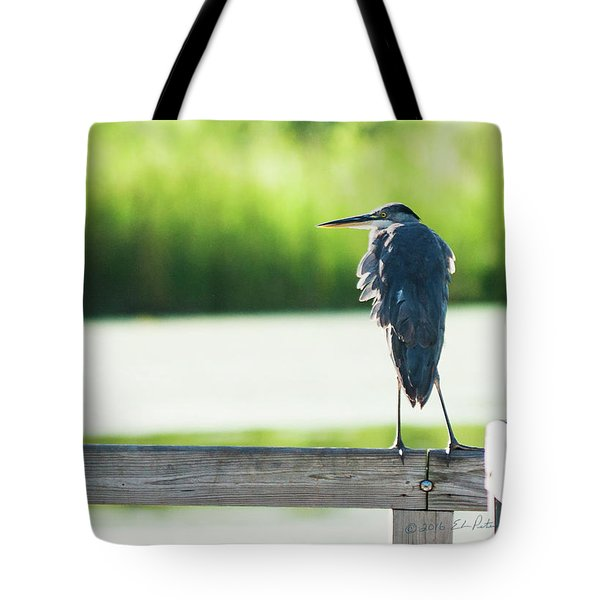 Early Morning Great Blue Heron Tote Bag