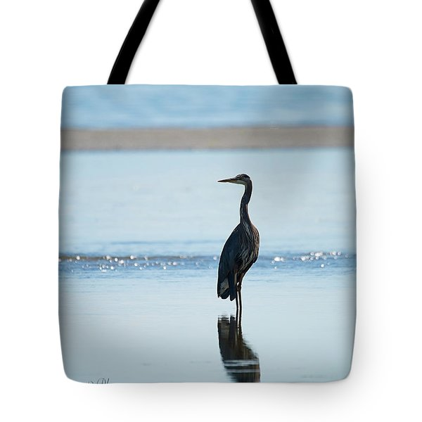 Early Morning Heron Tote Bag