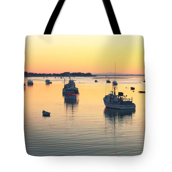 Tote Bag featuring the photograph Early Morning In Chatham Harbor by Roupen  Baker