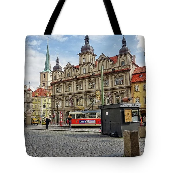 Early Morning In Prague Tote Bag