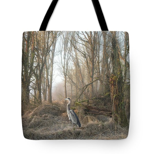 Tote Bag featuring the photograph Early Morning In The Backwoods by Angie Vogel