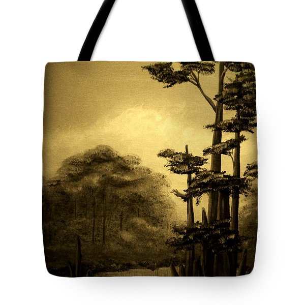Early Morning In The Cypress Swamp Tote Bag by Tim Townsend