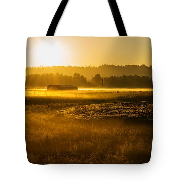 Tote Bag featuring the photograph Early Morning In The Valley by MaryJane Armstrong