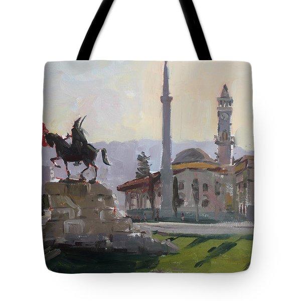 Early Morning In Tirana Tote Bag