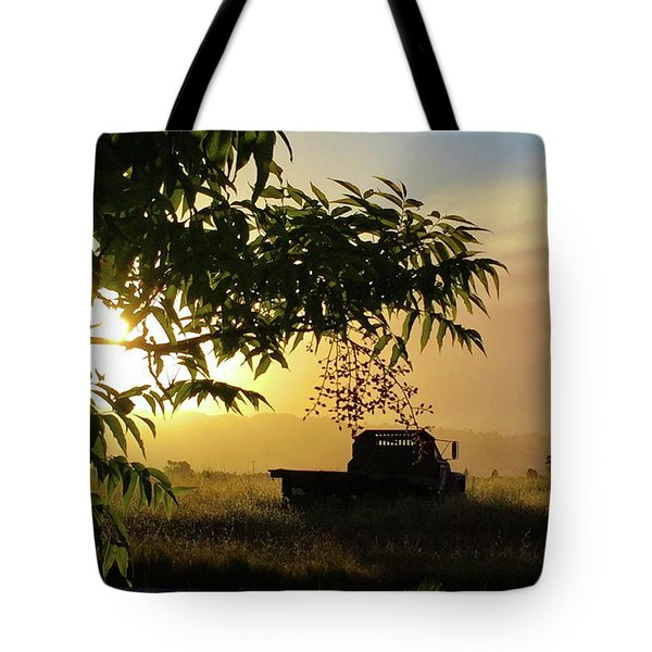 Tote Bag featuring the photograph Early Morning In Watsonville by Lora Lee Chapman