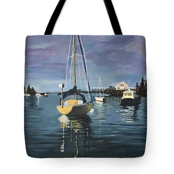 Tote Bag featuring the painting Early Morning by Jane Croteau