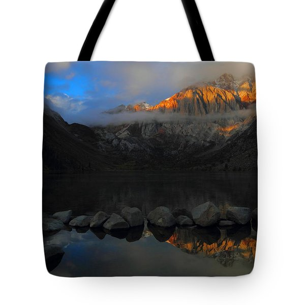 Early Morning Light At Convict Lake In The Eastern Sierras Tote Bag by Jetson Nguyen