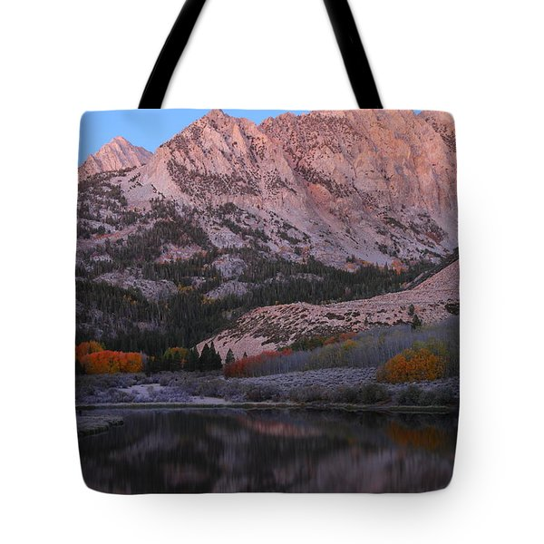 Early Morning Light At North Lake In The Eastern Sierras During Autumn Tote Bag