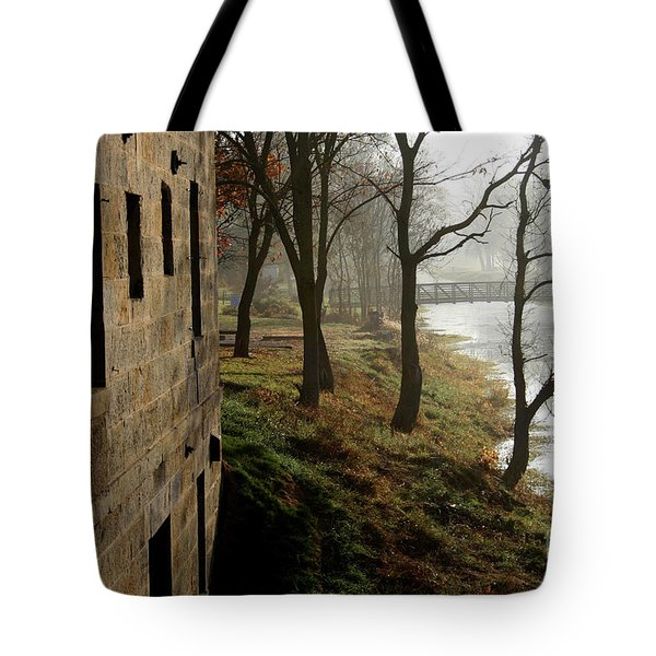 Early Morning Mist On The I  M Canal Tote Bag