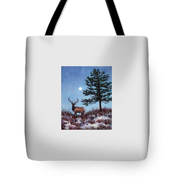 Early Morning Moon Tote Bag