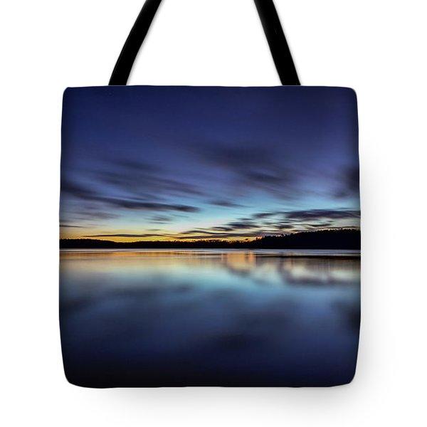 Early Morning On Lake Lanier Tote Bag by Bernd Laeschke