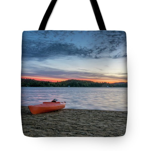 Early Morning On Oxtongue Lake Tote Bag by Irwin Seidman
