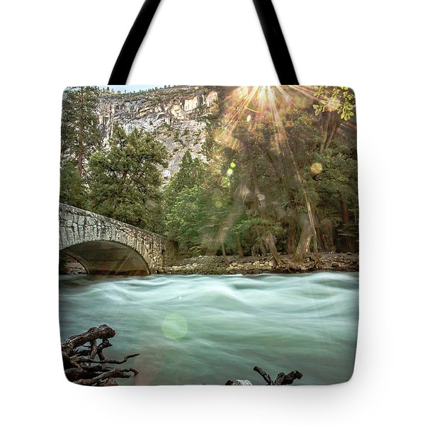 Early Morning On The Merced River Tote Bag