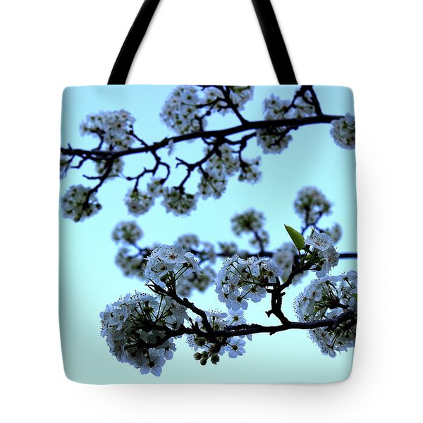 Early Morning Pear Blossom Tote Bag