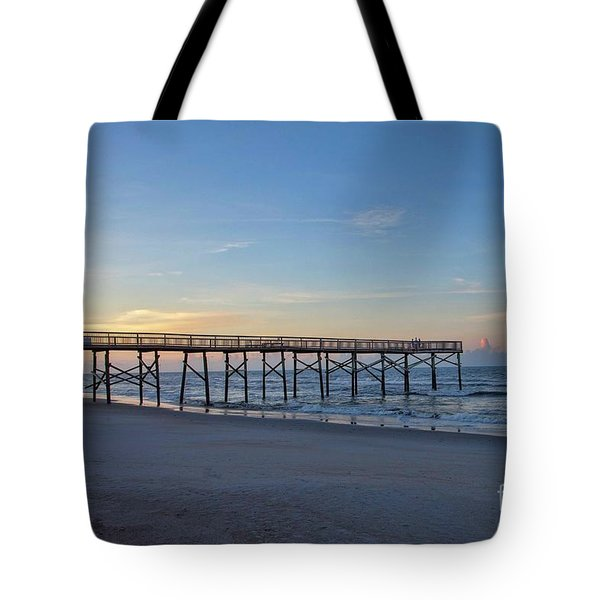Early Morning Pier Tote Bag