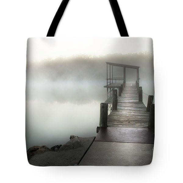 Yesterday's Early Morning Pier Tote Bag by Tamyra Ayles