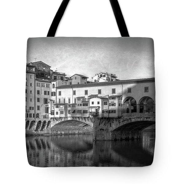 Tote Bag featuring the photograph Early Morning Ponte Vecchio Florence Italy by Joan Carroll