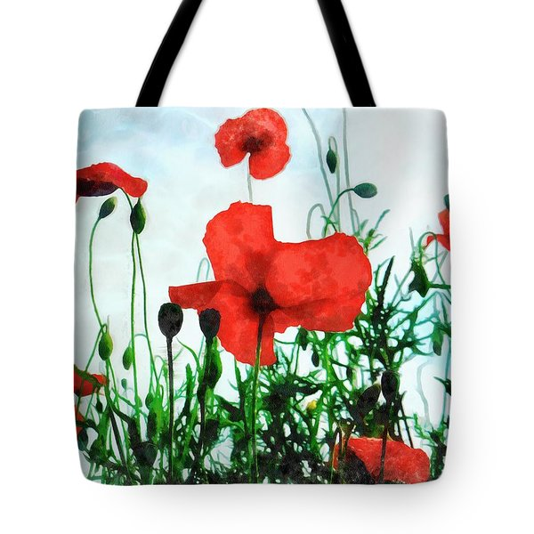 Early Morning Poppy Moment Tote Bag