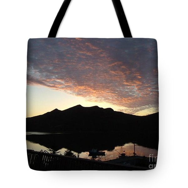 Early Morning Red Sky Tote Bag by Barbara Griffin