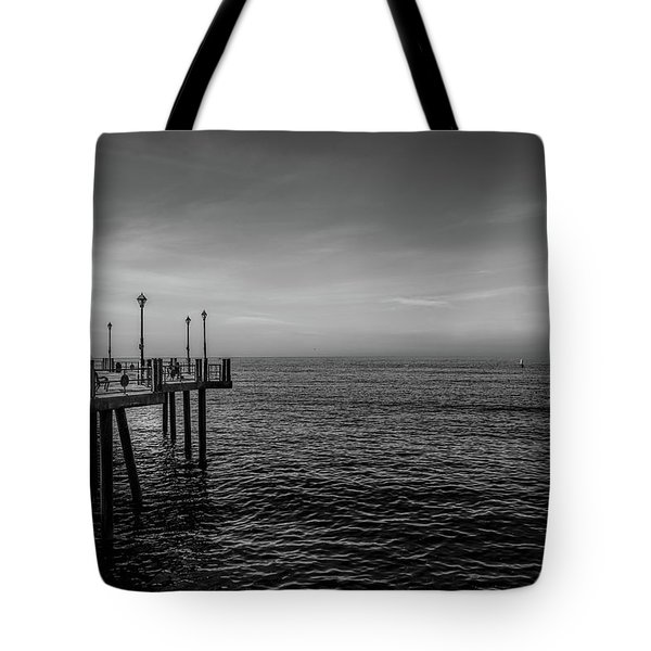 Tote Bag featuring the photograph Early Morning Redondo By Mike-hope by Michael Hope