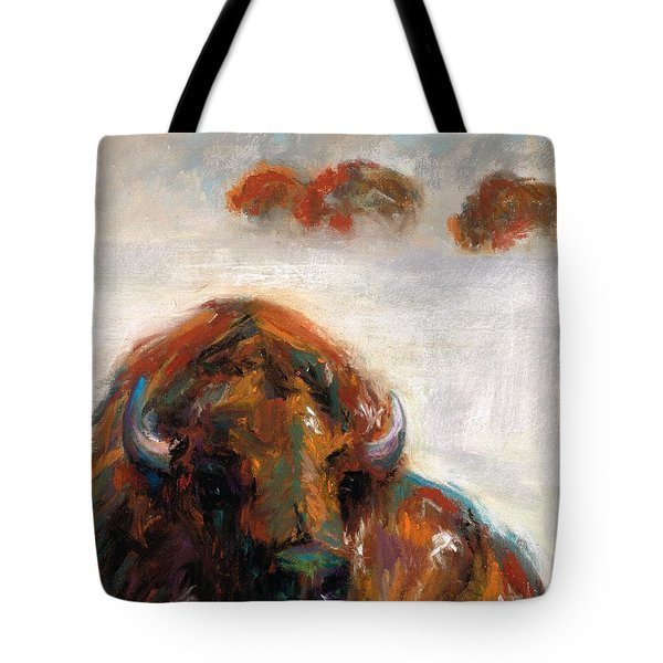 Early Morning Snow Tote Bag by Frances Marino