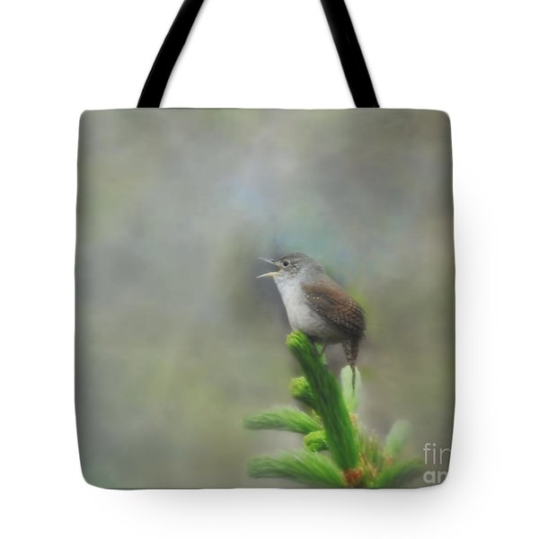 Tote Bag featuring the photograph Early Morning Songbird by Brenda Bostic