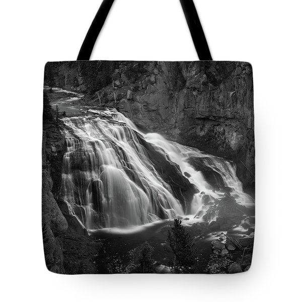 Early Morning Steam Falls Tote Bag